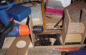 Taladro horizontal utilizando un taladro eléctrico