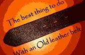 Lo mejor que puedes hacer con una vieja correa de cuero