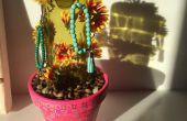 Vino de Cactus botella (o colgador de joyería)