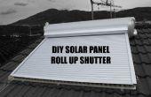 Panel solar bricolaje enrollar persiana (cortina solar, tapparella solare)