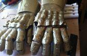 Bonita guanteletes armadura fácil de termoplástico