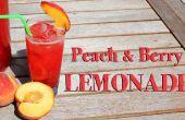 Melocotón y limonada de la baya