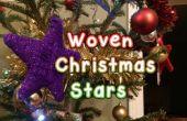 Tejido lana Navidad estrellas