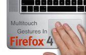 Personalización de gestos multitouch de Firefox
