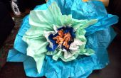 Flores gigantes de papel de seda