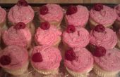 Blanco Chocolate Cupcakes frambuesas