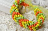 Cómo hacer una pulsera de brazalete de grano de Pony para otoño dorado