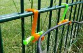 Ganchos para cerca de alambre sólido del cable