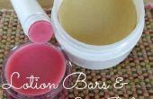 DIY barras de loción y bálsamo para los labios!