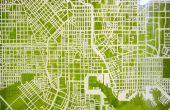 Corte de ruta - mapa No láser de corte de papel