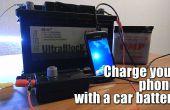 Carga tu teléfono con una batería de coche (6V-24V)