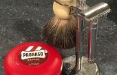 Cómo mojado afeitado con una maquinilla de afeitar de seguridad.