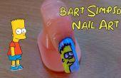 Bart Simpson de uñas de arte - Arte del clavo Sharpie