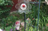 Flor de vidrio de arte de la yarda