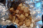 Patatas patatas-Cubed fogata (u horno) en un baño de mantequilla, sal y pimienta