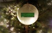 Tweetball: Una bola de adorno de Navidad que muestra tus amigos de twitter deseos