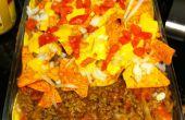 Último Taco lasaña deliciosa pero poco saludable :) relación perfecta de chips dip y tortilla morder para siempre!