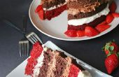 Cuádruple Decker terciopelo rojo Chocolate torta