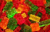 Caramelos gomosos en forma de ladrillo LEGO