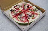 Pizza de sandía y frutas