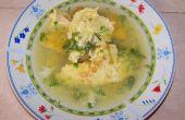 Huevo sopa de tortilla - fácil y muy sabrosa!