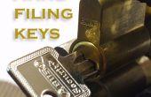Desde espacio de claves para llaves de trabajo sin derribos la cerradura (con un handfile)