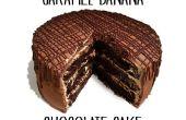 Plátano dulce pastel de Chocolate