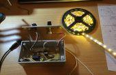 Control de tira de LED con atenuador y circuitos de pulsos Audio