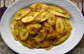 Pan frito plátano chips