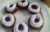Cupcakes de arándanos Berry muy