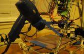 Desarrollo de una pieza 3D impreso - Prusa Mendel pelo secador calienta cama montar