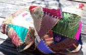 Almohadas de loco edredón bordado a mano