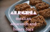 Alegria - barras de miel y amaranto mexicano sano