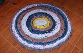 Cómo hacer una alfombra de bolsas de plástico