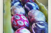 Huevos de teñido de seda