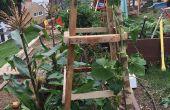 Plataforma jardín enrejado