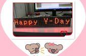 Especial San Valentín regalo hecho con el MAX7219 módulo de matriz de punto