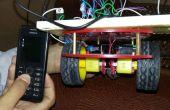 Móvil controló el coche robótica utilizando arduino y DTMF