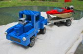 Barra de 40 Willys calle LEGO con lancha y remolque