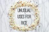 Usos inusuales de arroz
