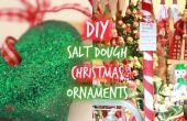Alemán inspirado en Navidad adornos de pasta de sal