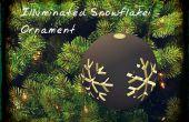 Iluminado de copo de nieve ornamento
