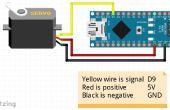 Barrer el motor servo con Arduino Nano