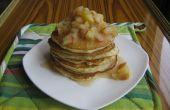 Tortitas de suero de leche con compota de manzana y miel (hecho con ghee)