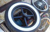 Fabricación de ejes de rueda de moto amplia y uniéndose a ellos para llantas de coche!
