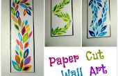 Corte de papel DIY pared arte