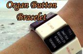 Hacer una pulsera de botón de órgano Retro - el órgano donante proyecto parte 4