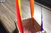 Cómo hacer un portalápices de Popsicle Stick
