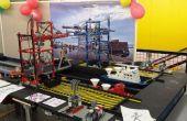 Puerto de miniatura con Lego grúas