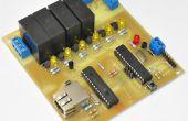 Un controlador de relé Programable remotamente (luces de Navidad o central domótica)